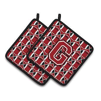 Litera G piłki nożnej Red, para czarno-białe łapki