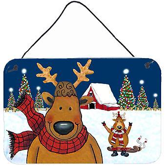 The Tree Famers Reindeer Christmas Wall or Door Hanging Prints