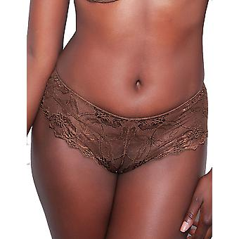 Nubian Skin 812082 Women's The Classic Berry Brown Lace Hipster