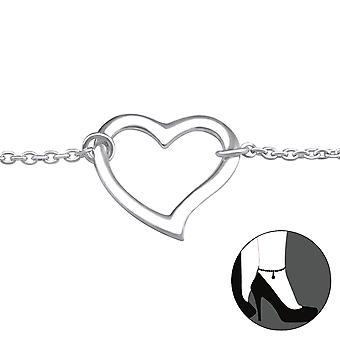 Heart - 925 Sterling Silver Anklets - W31055x