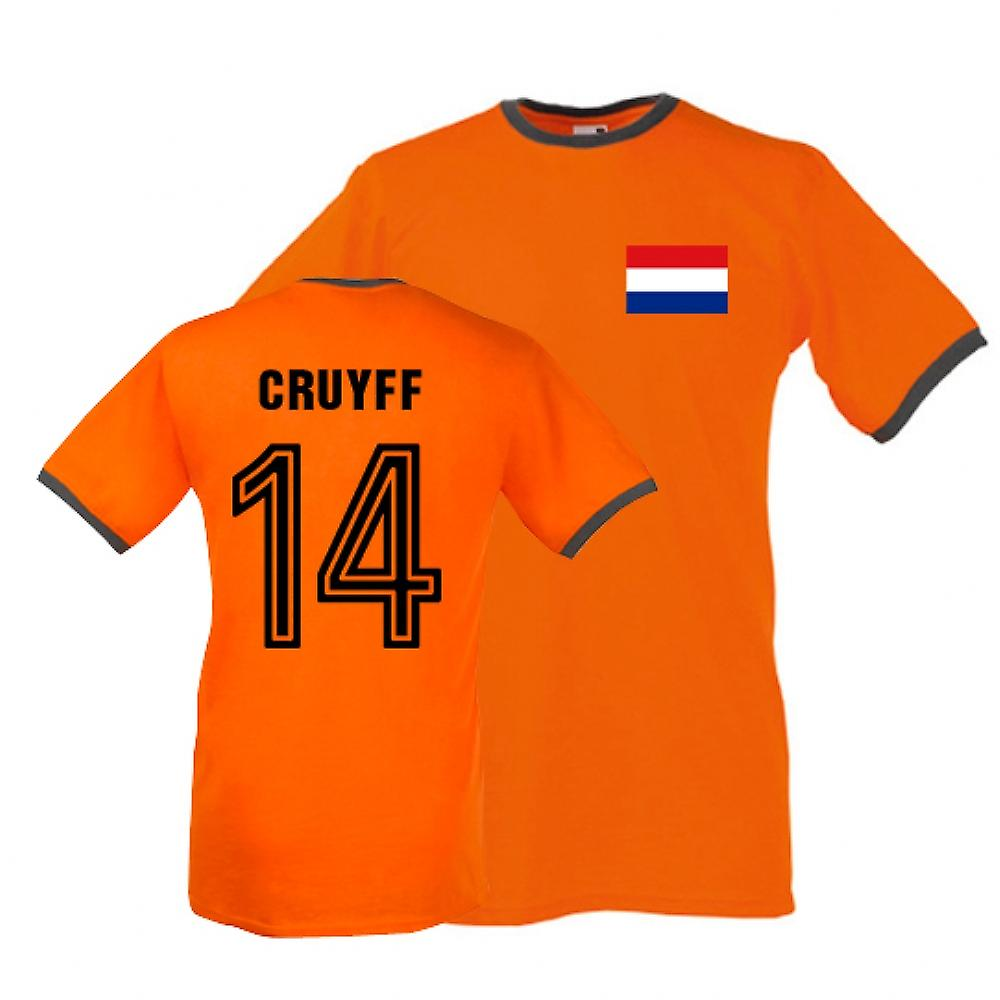 Johan Cruyff Holland Ringer Tee (orange)