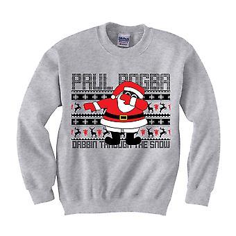 Paul Pogba Dabbin Weihnachtspullover (grau) - Kinder