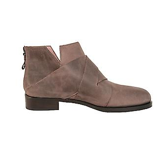 Quoque ladies M10051 beige leather ankle boots