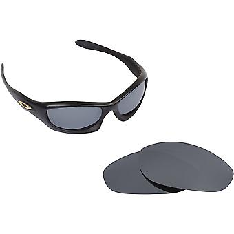 Monster Dog Replacement Lenses Black & Silver by SEEK fits OAKLEY Sunglasses
