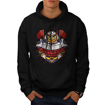 Knight Colorful Men BlackHoodie | Wellcoda