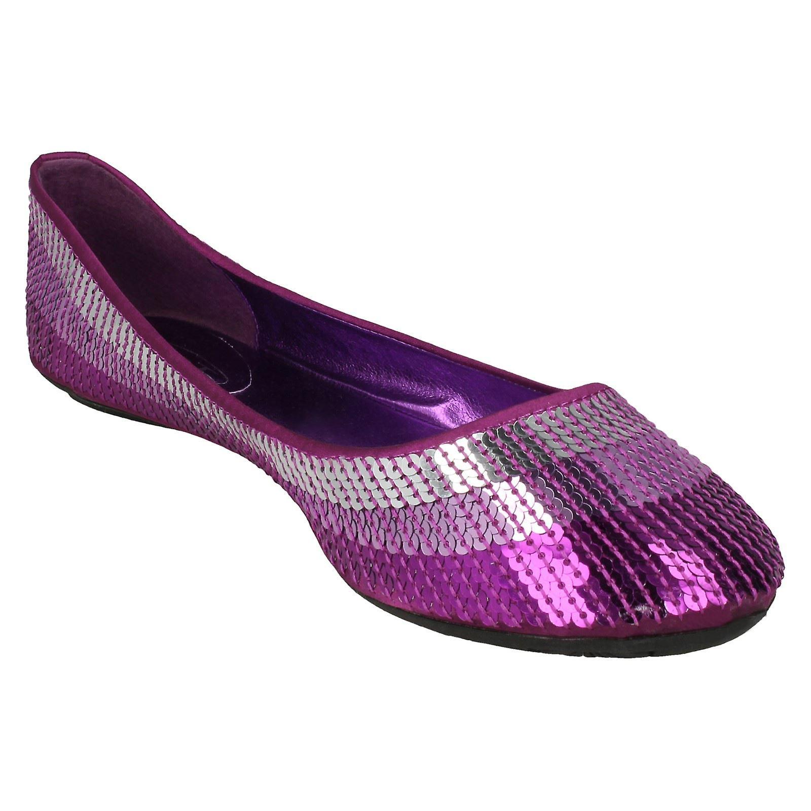 Ballerina Spot Sequined On Ladies Flat IOpqRfwxxg