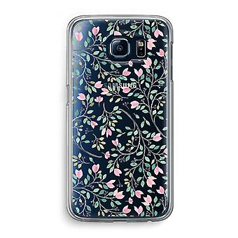 Samsung Galaxy S6 Transparent Case (Soft) - Dainty flowers