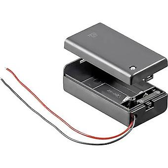 Battery tray 1x 9V PP3 Cable (L x W x H) 68.4 x 33.2 x 25.6 mm Goobay 48171
