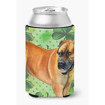 Carolines Treasures  BB9820CC Boerboel Mastiff St Patrick's Can or Bottle Hugger