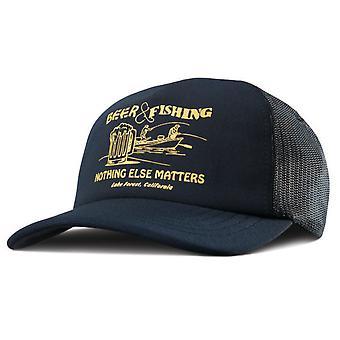 ETNIES birra e pesca Trucker Cap - blu marino scuro