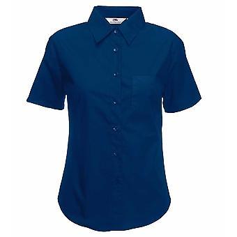 Fruit of the Ladies Loom Lady-Fit Short Sleeve Poplin Shirt