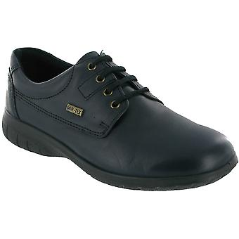 Cotswold Ladies Ruscombe Lace Up Leather Waterproof Casual Shoe Navy