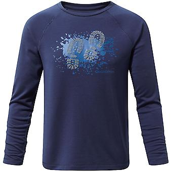 Craghoppers Boys & Girls Mimir Long Sleeve Poly Graphic T-Shirt