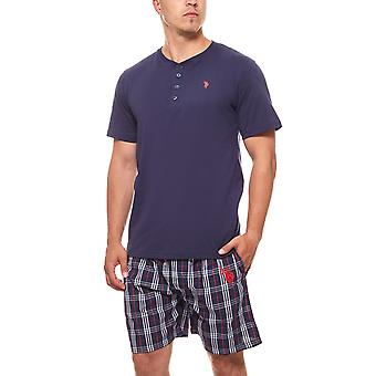 U.S. POLO ASSN. Pajama set men's sleep suit short Navy