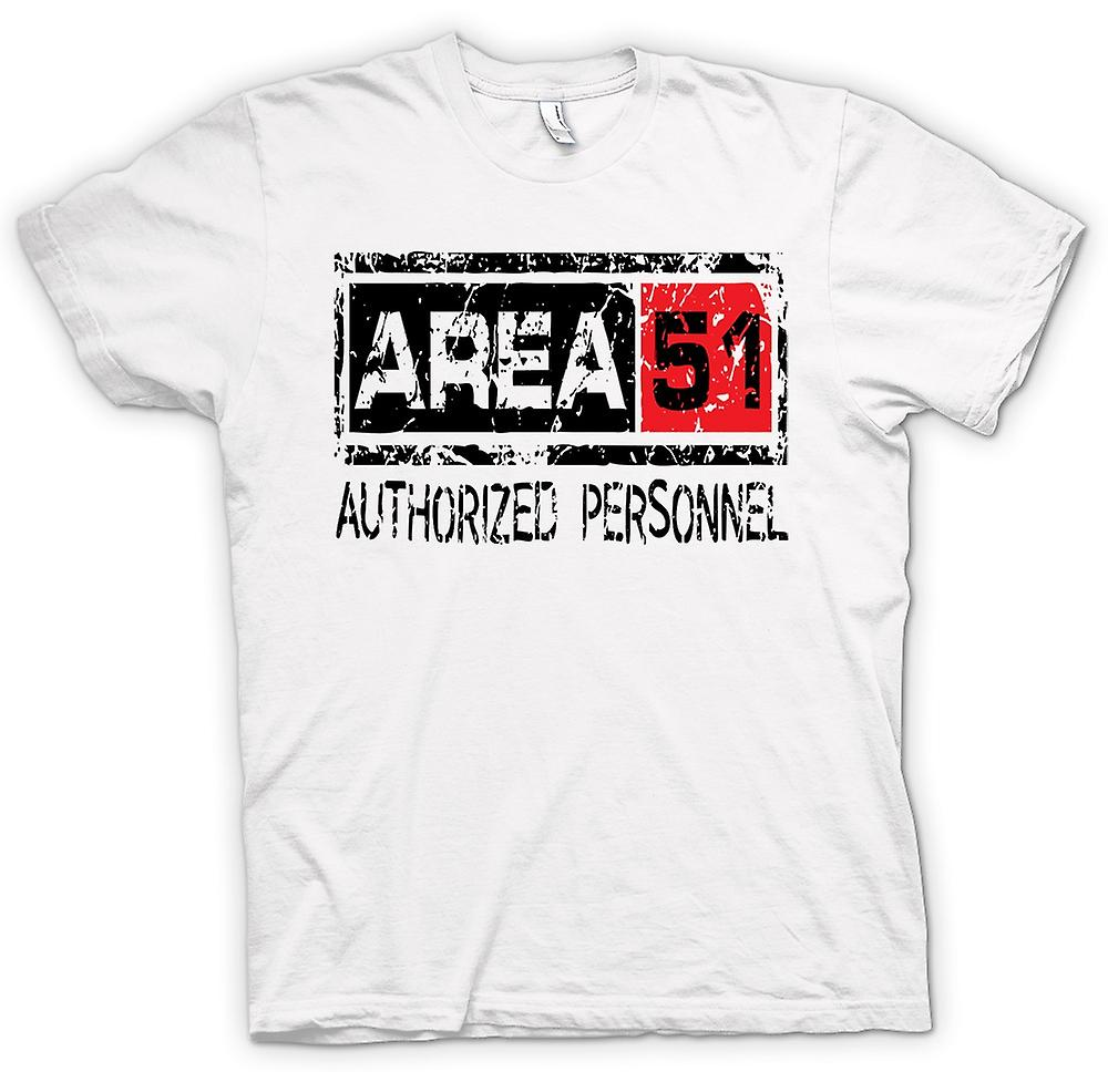 Womens T-shirt - Area 51 Authorised Personnel - UFO Funny Aliens