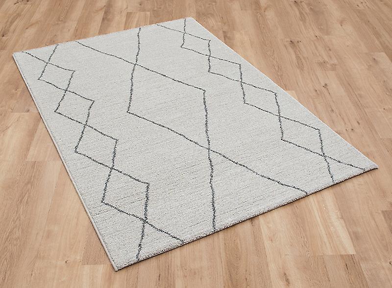 Tapis gris argent Rectangle tapis Plain presque plaine scalde 49007 6242
