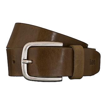 Cinturones de Lee cinturones hombre cuero cinturón verde 5411
