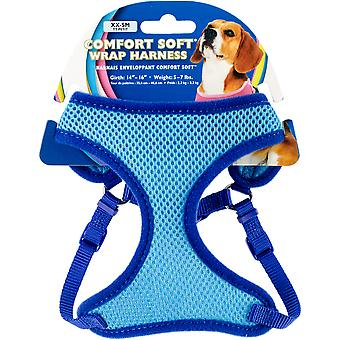 Comfort Soft Wrap Adjustable Dog Harness Xxsmall-Blue, Girth Size 14