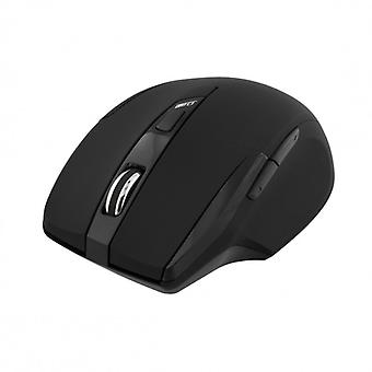 DELTACO wireless mouse ottico, 5 pulsanti, 1600 dpi, USB, nero