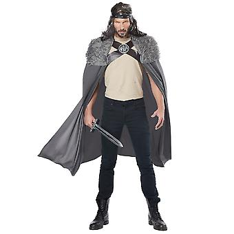 Dragon Master Viking Medieval Warrior Renaissance Norman Mens Costume Cape