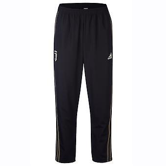 2018-2019 Juventus Adidas сплетенные брюки (черный)