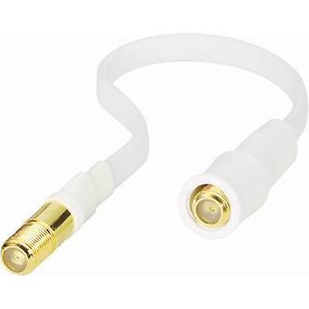 Renkforce SAT Cable de extensión [1 x zócalo de F - 1 x socket F] conducto de ventana de 0,20 m 85 dB blanco