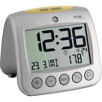 TFA 60.2514 Radio Alarm clock Silver Alarm times 2