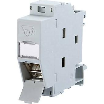 Network outlet DIN rail CAT 6A Metz Connect 130B117003-E Grey-white (RAL 7035)