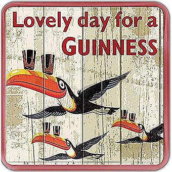 Guinness Flying Toucans Cork Backed Drinks Coaster 100Mm X 100Mm