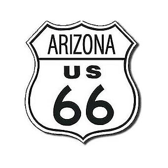 Route 66 Arizona Shield Metal Sign