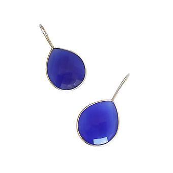 Gemshine - damer - øredobber - 925 - Onyx - blå - CANDY - drops - 3,5 cm