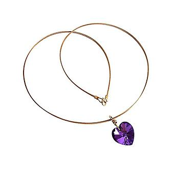 Heart chain Heart Necklace gold-plated with Crystal element Heart Necklace gold