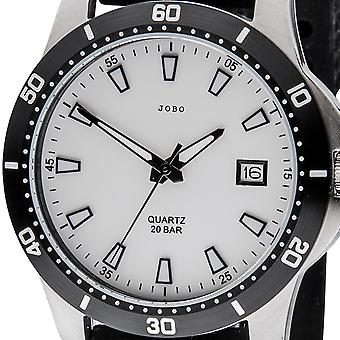 JOBO men's wristwatch quartz analog stainless steel mineral glass
