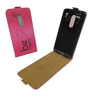 Mobile phone case pouch for mobile ZTE Axon 7 be happy pink