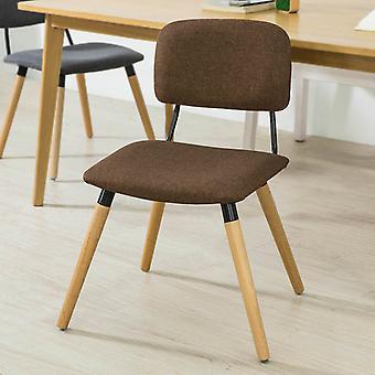 SoBuy Kitchen Dining Chair Fabric Upholstered Seat & Backrest with Wooden Legs Grey FST54-DG