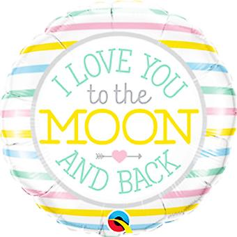 Qualatex 18in I Love You To The Moon Foil Balloon