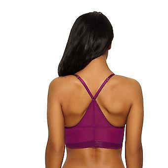 Gossard 14508 Women's Sport Lux Blackcurrant Purple Lace Underwired Racerback Bralet Longline Bra
