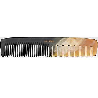 Hans Kniebes Mens Hair Comb Natural Buffalo Horn 14.5cm