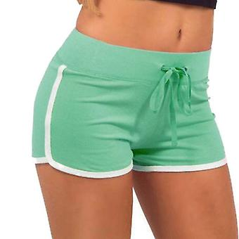 Training shorts for ladies-S-green and white