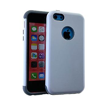 MYVI Serie Slim Hybrid Protector Case für Apple iPhone 5 / 5 s (graue Haut und Wh