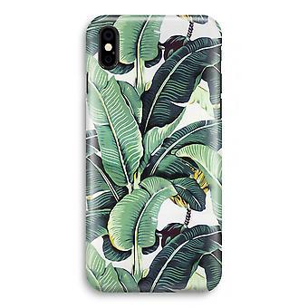 iPhone XS Full Print Case (glanset) - banan blader