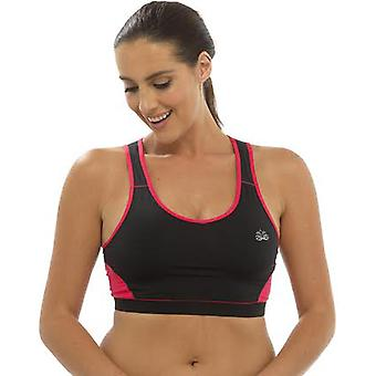 Ladies Tom Franks Two Tone Sport Gym Crop Top Fashion Sportswear