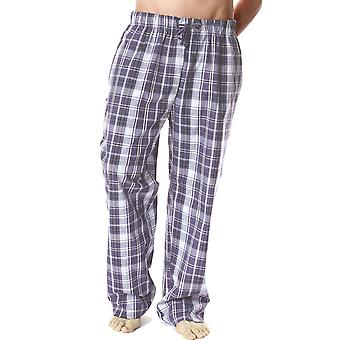 Mens Plaid Polycotton pyjama's bodems Lounge broek dragen