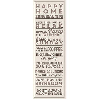 Happy Home Kunstdruck The Vintage Collection Survival Tips Kleinformat T�rposter