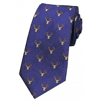 Cabezas de ciervos de David Van Hagen corbata de seda de país - Marina de guerra