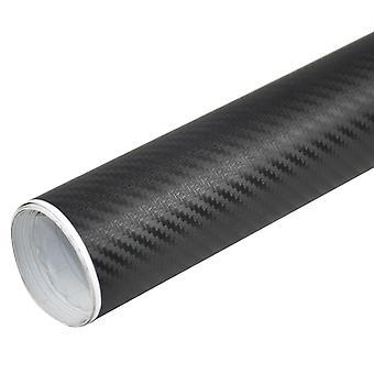 TRIXES 3D Carbon Fibre Vinyl Wrap bil klistermærke 1500 mm X 300 mm