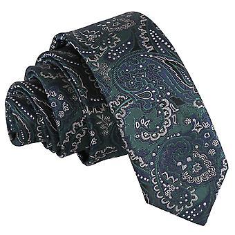 Cravatta verde & Navy, Royal Paisley