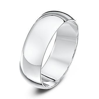Star Wedding Rings 18ct White Gold Heavy D 7mm Wedding Ring
