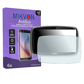 TomTom Go 6100 World Screen Protector - Mikvon AntiSun (Retail Package with accessories)