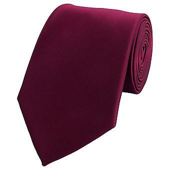 Schlips Krawatte Krawatten Binder 8cm rot uni weinrot dunkelrot Fabio Farini